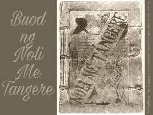 Buod ng Noli Me Tangere (Maikling Kabuuan)